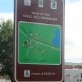 Rezzato: il cartello con la cartina